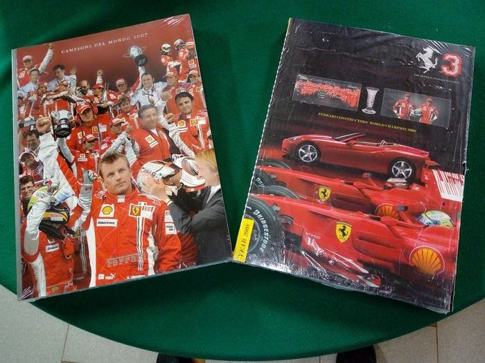 Ferrari yearbooks of the F1 world constructor of the 2000s - Ferrari - 2000-2008