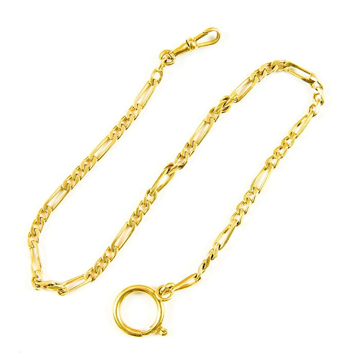 18 kt. Yellow gold - Leontina - Chain terminal for pocket watch