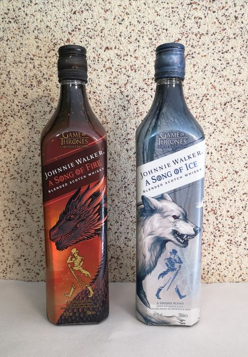 Johnnie Walker A Song of Fire & A Song of Ice - GOT - Original bottling - 0,7 Liter - 2 flessen