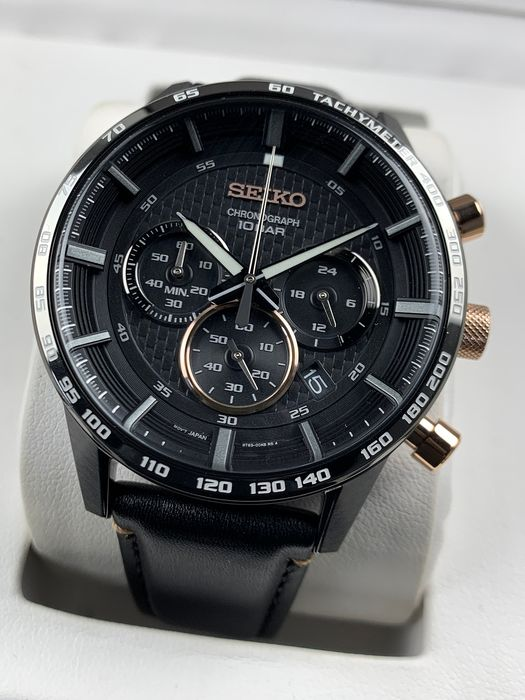 Seiko - Sports Chronograph Black - SSB361P1 - Heren - 2011-heden