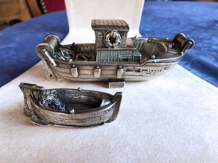 Argento Magrino - handmade boat sculptures (2) - .925 silver