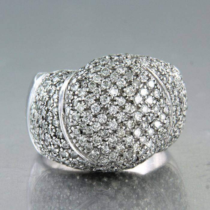 18 kt. White gold - Ring - 3.00 ct Diamond