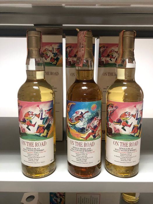 2x Bunnahabhain 1981 and Glenrothes 1984 On the Road - Signatory for Velier - b. 1995 - 700ml - 3 bouteilles