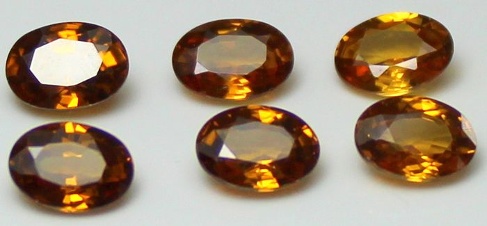 6 pcs  Zirkon - 7.96 ct
