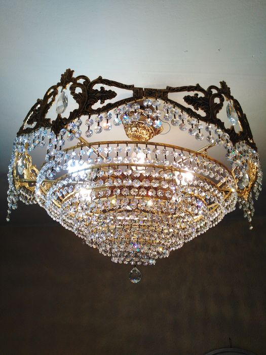 Ceiling lamp - Brass, Glass