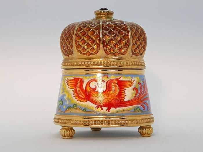 House of Fabergé  - Fabergé, Franklin Mint - Music box, Firebird - Goldplate, Porcelain