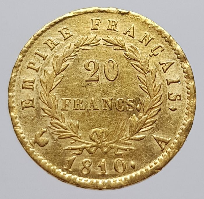 20 Francs 1810-A Napoleon - Or