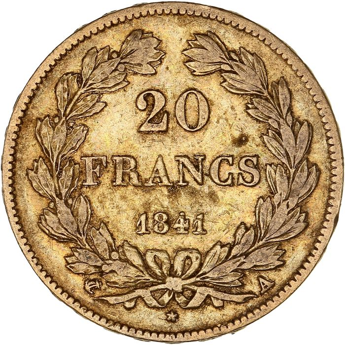 France - 20 Francs 1841-A Louis Philippe I - Or