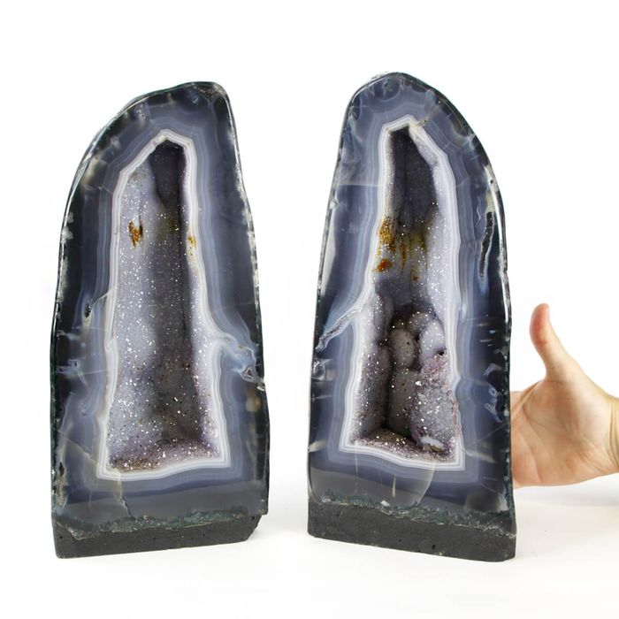 Amethyst (purple variety of quartz) Beautiful couple of Cathedrals - 350×320×100 mm - 14220 g - (2)