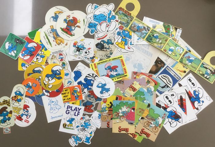 De Smurfen - collectie met 124 stickers