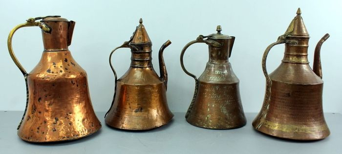 Antique arabic copper boilers (4) - Copper