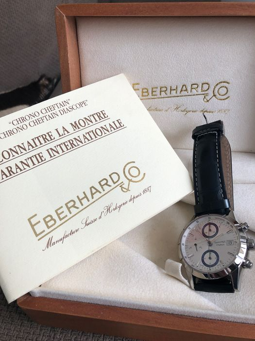 Eberhard & Co. - CHEFTAIN- Chronograph - Limited Edition - Full Set. -  Full Set: Box, documents stamped - Herren - 2002