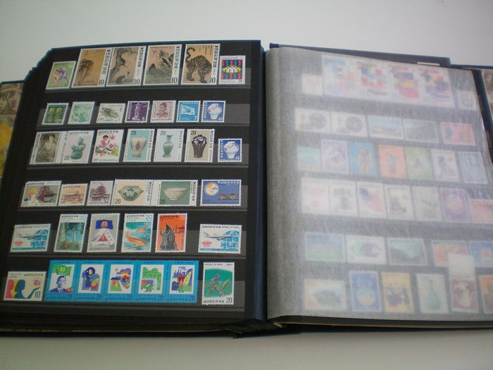 varios países en Asia - Lot with hundreds of stamps from various Asian countries, see description