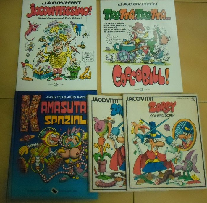 Jacovitti - 5x volumi - Softcover - First edition - (1975/2000)