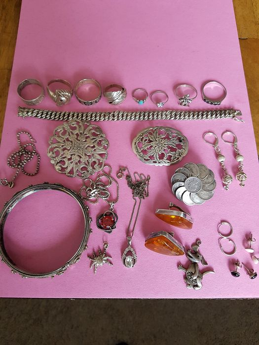 Silver - Great lot of silver vintage jewelry