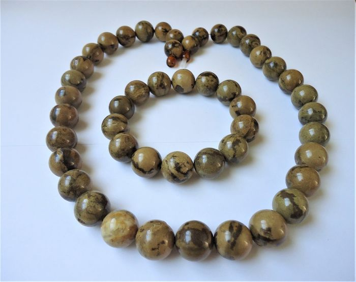 Marble Balric amber - Bracelet, Necklace - Commonly treated
