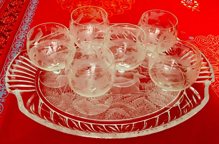 EXBOR Bohemia Crystal - Dinner set, Tray - Crystal