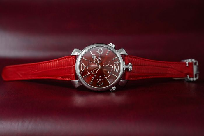 GaGà Milano - Watch Thin Chrono 46MM Red - 5097.04RD - Unisex - BRAND NEW