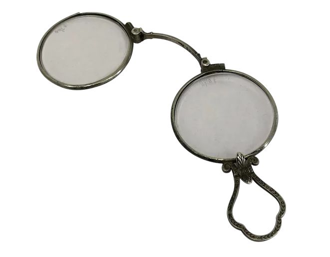 Lorgnet, glasses - Silver plated - Approx. 1890