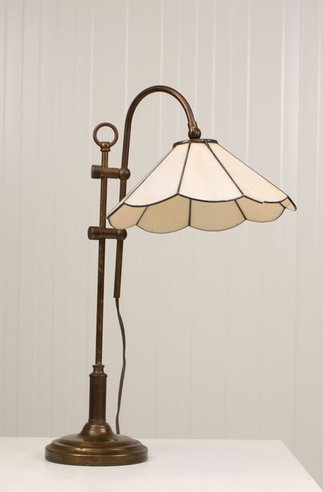 Lamp - Regency Style - Copper, Stained glass