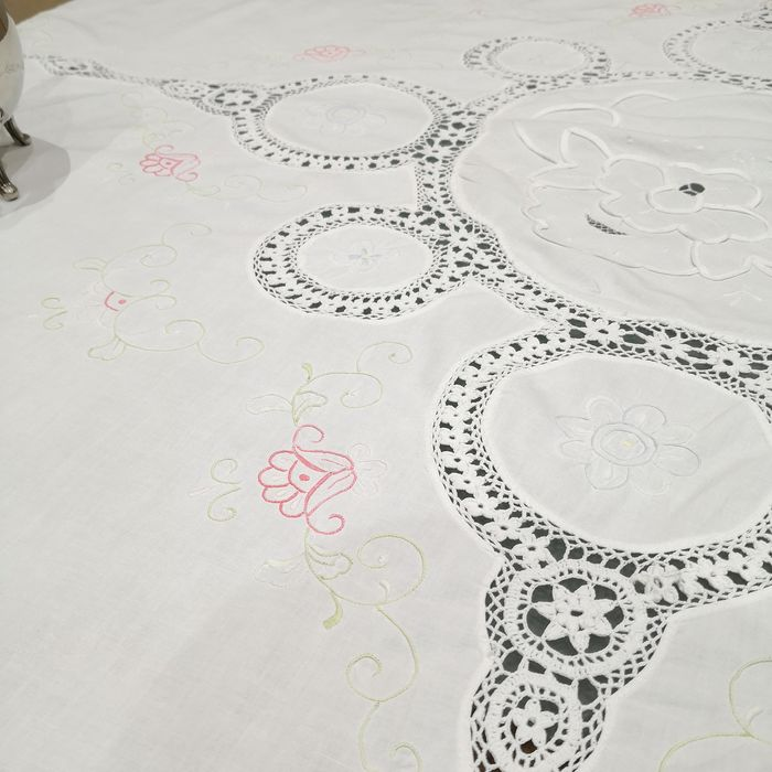 Round tablecloth - Cotton - Second half 20th century