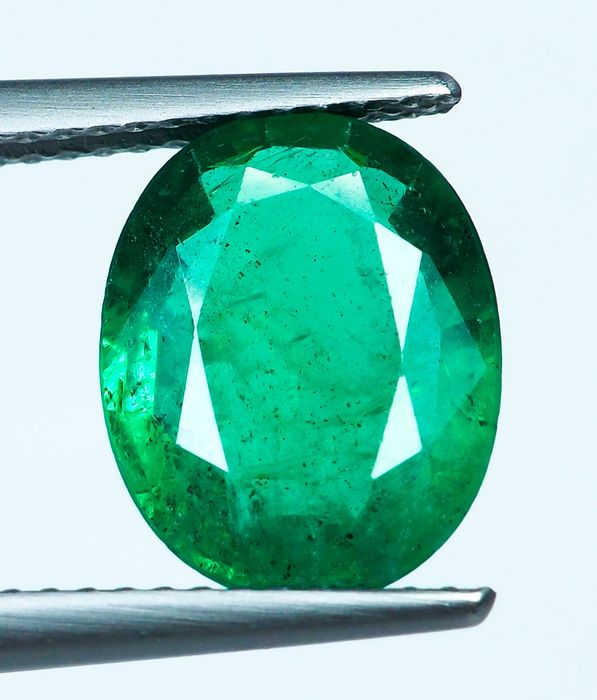 No Reserve - Intense Green Emerald - 2.87 ct