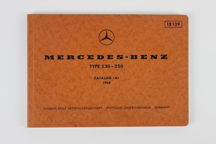 Catálogo de repuestos - Mercedes Benz Type 230-250 Catalogue A - 1968