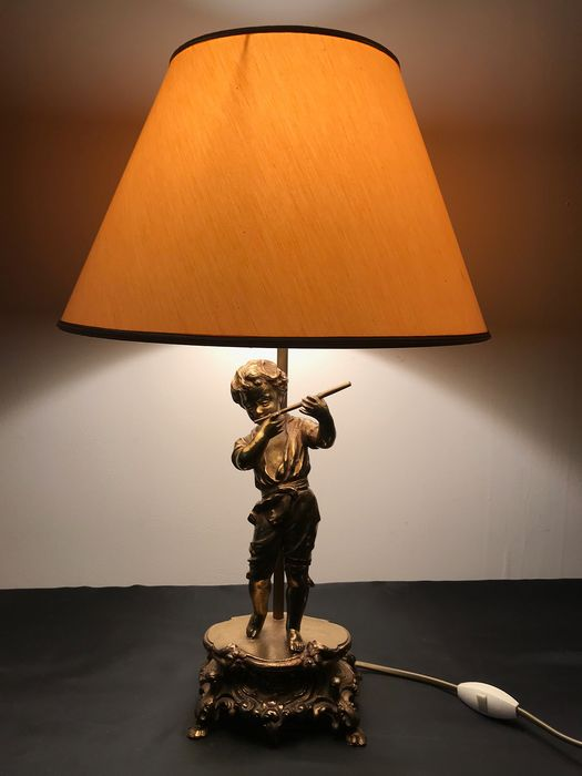 Lamp (1) - Mid-Century Modern - Bronze (gilt/silvered/patinated/cold painted)