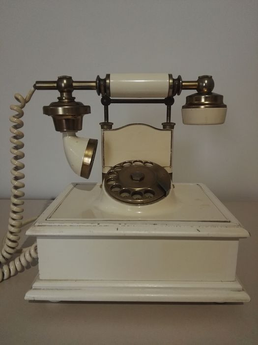 Telcer Telefonia Milano - Telephone Vintage - Brass, Plastic, Wood
