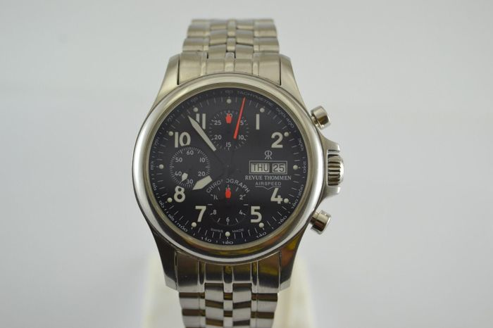 Revue Thommen - Airspeed Chronograph Automatic - 17081.6 - Heren - 2000-2010