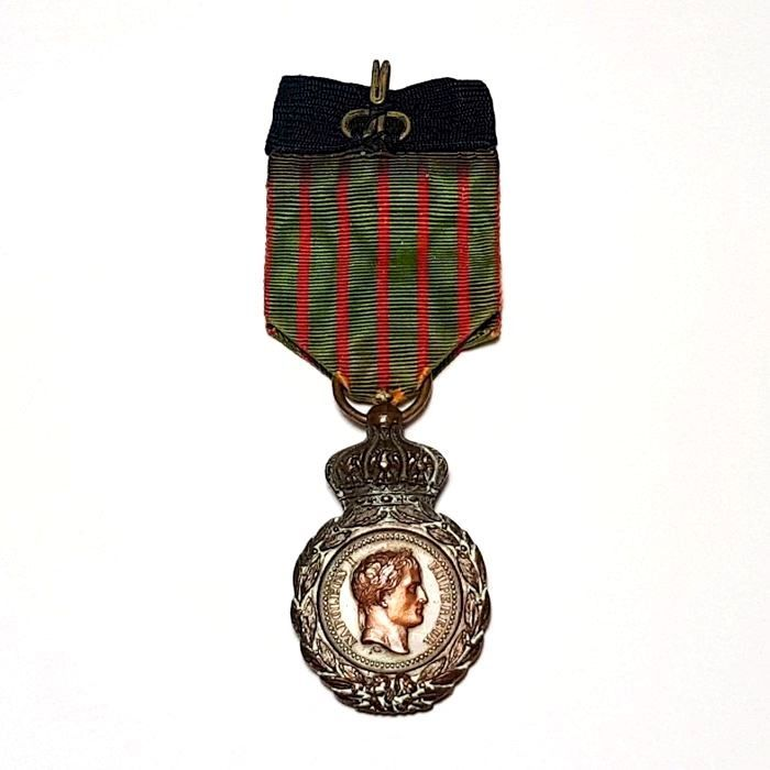 France - Army/Infantry - Commemorative Medal of Saint Helena (Napoleon) with ribbon - 1857