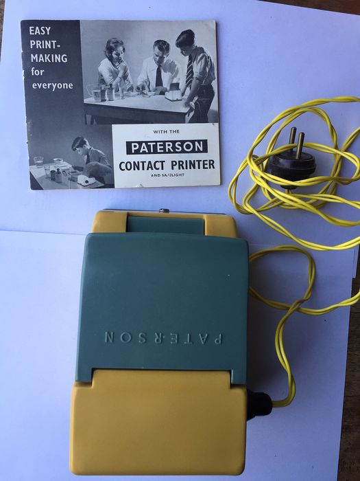Patersson Contact printer, + 2 analoge camera's