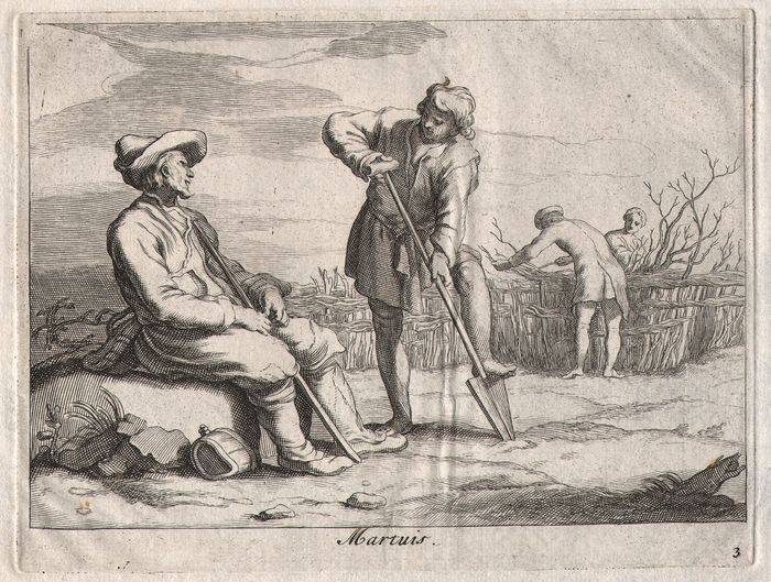 Abraham Bloemaert (1564-1651) - The month of March - By his son Frederik (1616-1690)