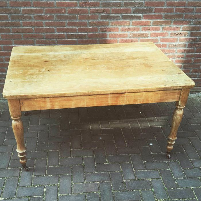 Dining table, A rural pine work table / dining table - Wood
