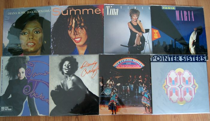 Diana Ross, Donna Summer, Tina Turner and More,  - Multiple artists - 7 LP Albums and 1 12inch - Multiple titles - 2xLP Album (double album), LP's - 1974/1986