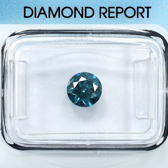 Diamante - 0.90 ct - Brillante - Fancy Deep Blue - I1 - NO RESERVE PRICE
