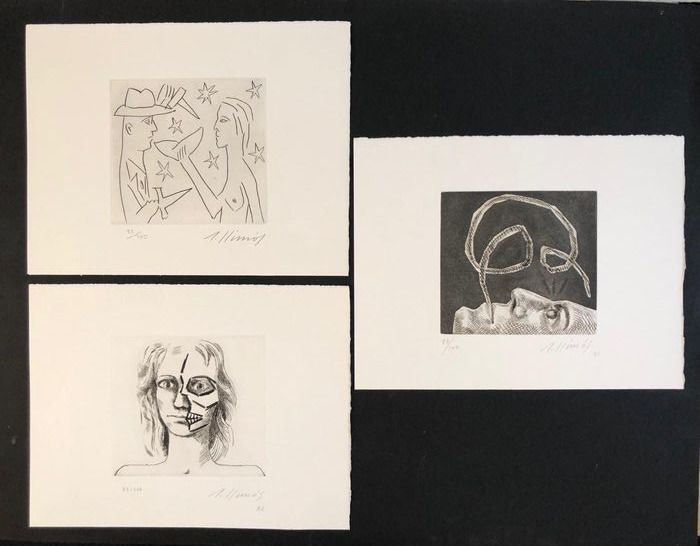 Robert Llimos - Set of 3 etchings