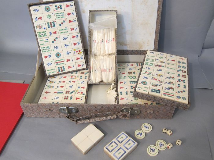 Mahjong Game (1) - bamboo and bone - China - Second half 20th century