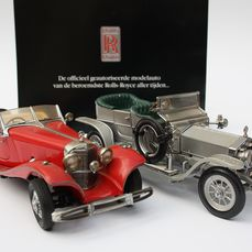 Franklin Mint - 1:24 - Rolls-Royce Silver Ghost & Mercedes-Benz 1935 - 2 stuks