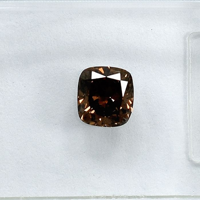 Diamante - 0.54 ct - Almofada - Natural Fancy Deep Brown - Si1 - NO RESERVE PRICE