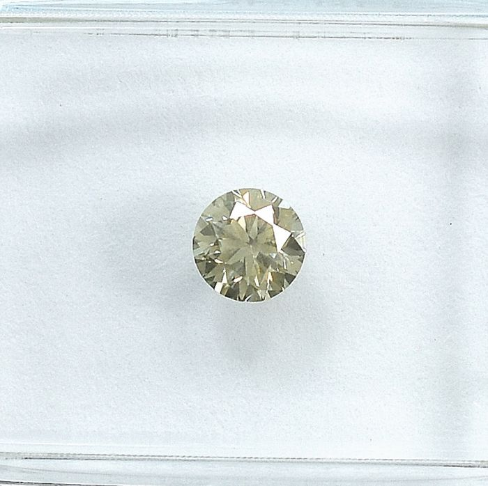 Diamant - 0.30 ct - Brillant - Light Yellowish Brown - SI1