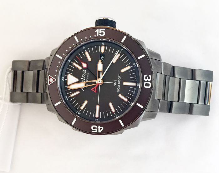 Alpina - Seastrong Quartz GMT  - AL-247LGG4TV6B - Herre - 2019