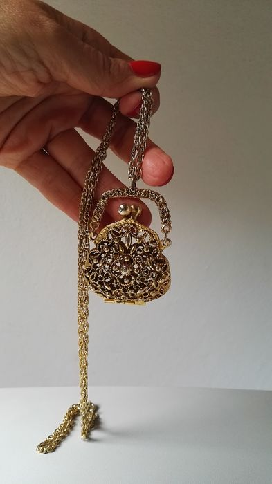 firmata ART (Arthur Pepper) con pendente purse a forma di borsellino Gold-plated - Necklace with pendant