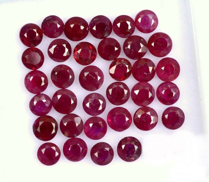 34 pcs Red Ruby - 3.59 ct