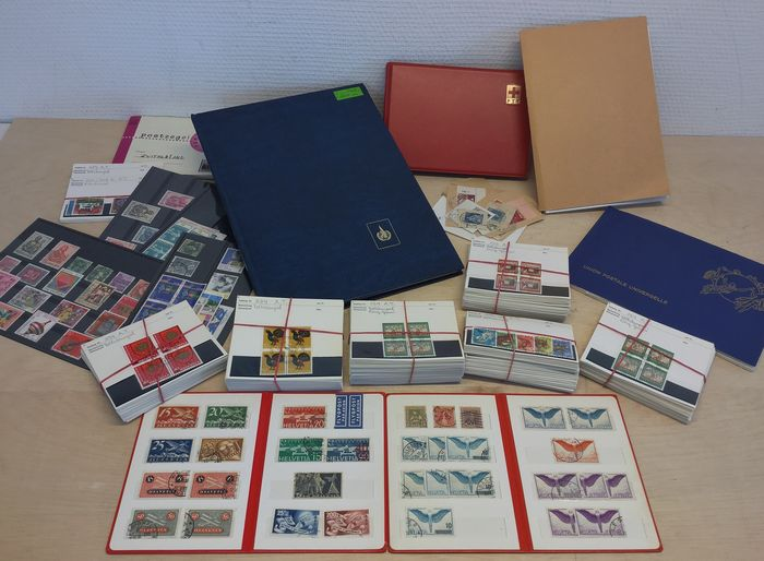 Switzerland - Collection, amongst others, airmail, official stamps and blocks of four