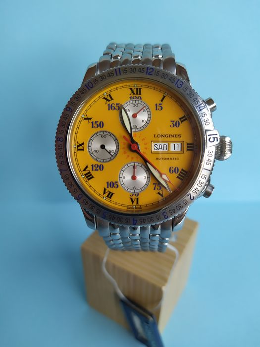 Longines - Lindbergh Special Series Hour Angle Watch Chronograph - L2.618.4 - Heren - 2000-2010