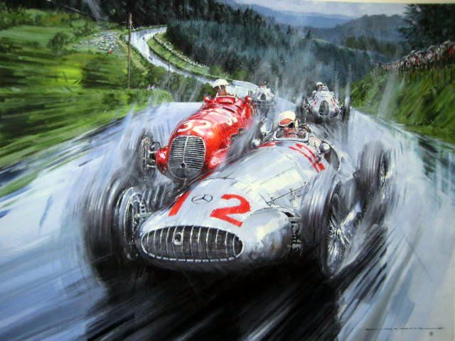 Fine Art Exclusiv Limited Giclee Print (Artist Proof)) - Mercedes-Benz W154 #12 Rudolf Caracciola Winner Nürburgring German Grand Prix - 1939