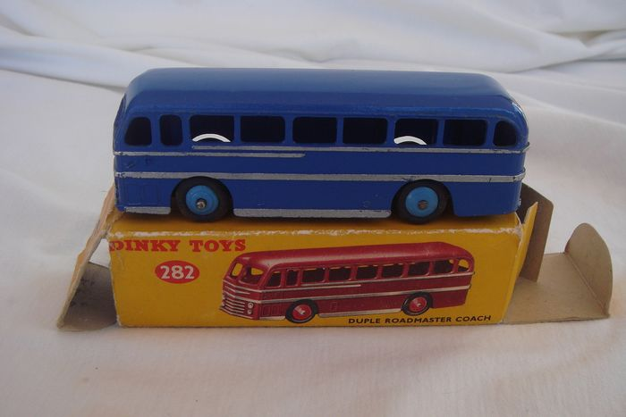 """Dinky Toys - 1:48 - New Series First Issue Duple Roadmaster """"Leyland"""" Royal Tiger Coach - no. 282 - In Original Box 1954"""