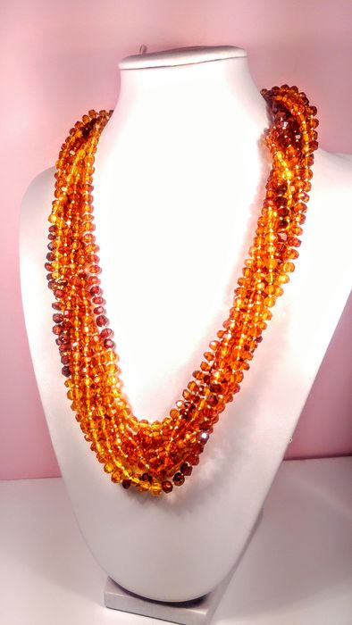 Faceted Amber - Necklace - Natural (untreated)