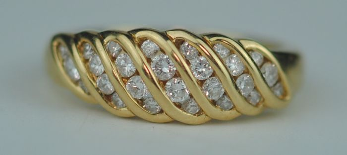Diamond (0.50ct) - 18 quilates Oro amarillo - Anillo